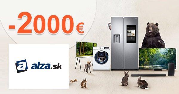 Samsung CASHBACK až -2000€ za nákup na Alza.sk