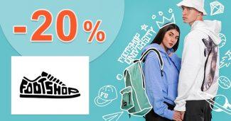 Späť do školy! Extra ZĽAVA -20% na FootShop.sk