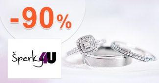 Šperky v akcii až do -90% zľavy na Sperky4u.eu