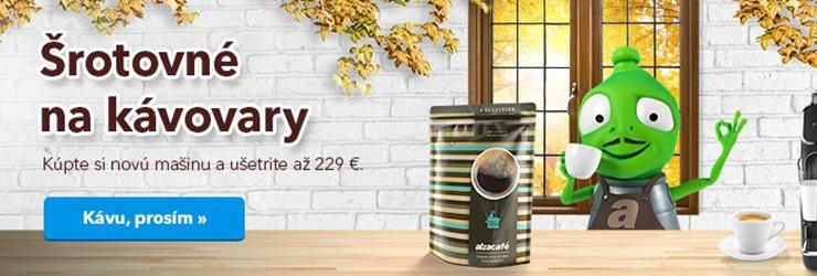 Šrotovné na kávovary na Alza.sk
