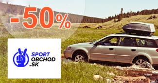 Strešné nosiče a boxy až -50% na SportObchod.sk