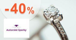 Zlaté šperky až -40% zľavy na AutorskeSperky.com