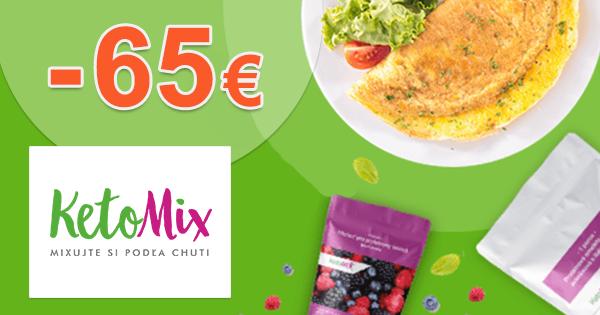 Zľava -65€ na diétu na 4 týždne na KetoMix.sk