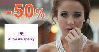 Bižutéria v akcii až do -50% na AutorskeSperky.com