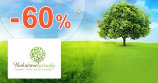 Výpredaj až -60% na Bohatstvo-prirody.sk