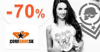 Výpredaj až -70% zľavy akcie na CoreShop.sk