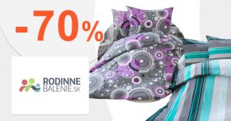Výpredaj bytového textilu až -70% na RodinneBalenie.sk
