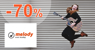 Výpredaj hudobných nástrojov a príslušenstva až -70% na Melodyshop.sk