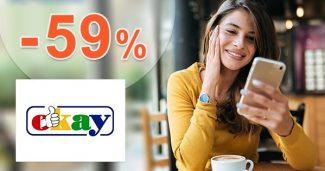Výpredaj na elektro a nábytok až -59% na Okay.sk