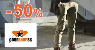 Výpredaj na nohavice až -50% na CoreShop.sk