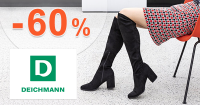 Výpredaj obuvi až -60% zľavy na Deichmann.sk