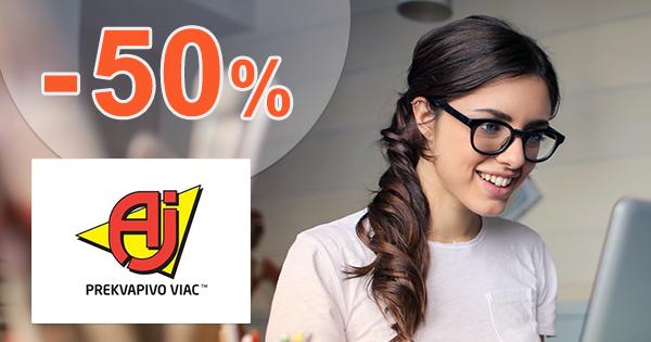 Výpredaj skladu až -50% zľavy na AJprodukty.sk