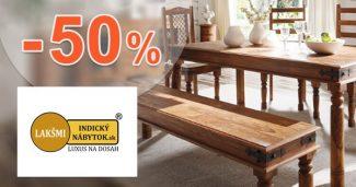 Nábytok pre obývačky až -50% na IndickyNabytok.sk