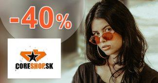 Výpredaj so zľavami až do -40% na CoreShop.sk