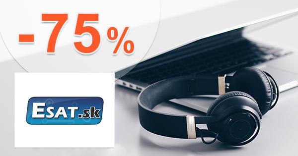 Výpredaj tovaru až -75% zľavy na ESAT.sk