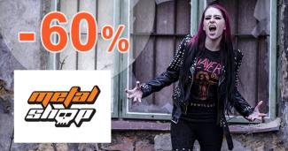 Výpredaj tričiek až -60% na MetalShop.sk