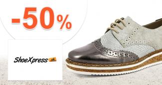 Výrobky s 50% -nou zľavou na Shoexpress.sk