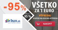 Všetko za 1€ = zľava až -95% na Bux.sk