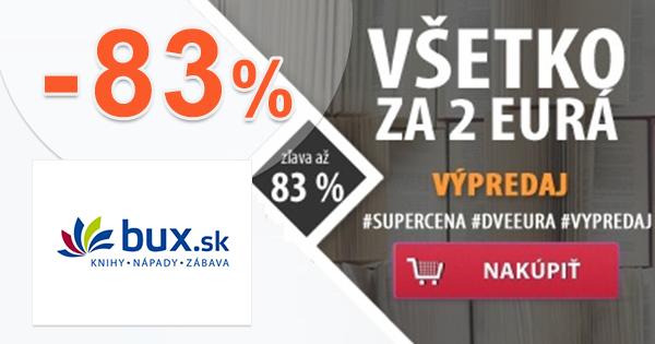 Všetko za 2€ = zľava až -83% na Bux.sk