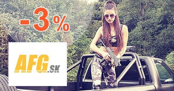 VERNOSTNÁ ZĽAVA až -3% na všetko na AFG.sk