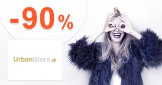 VÝPREDAJ → OD -40% DO -90% na UrbanStore.sk