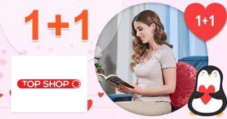 Valentínska akcia 1+1 zadarmo na TopShop.sk