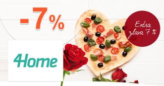 Valentínsky zľavový kód -7% na všetko na 4Home.sk