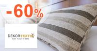 Vankúše a prikrývky až -60% na DekorTextil.sk