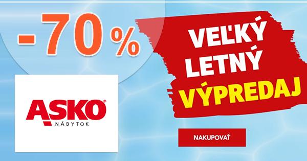 Veľký letný výpredaj až -70% na ASKO-nabytok.sk