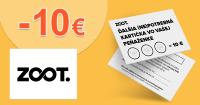 Vernostná zľava -10€ na nákup na ZOOT.sk