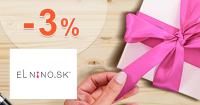 Vernostná zľava -3% na Parfemy-ELNINO.sk