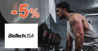 Vernostná zľava -5% na všetko na BioTechUsa.sk