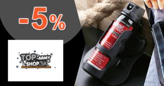 Vernostná zľava -5% na všetko na Top-ArmyShop.sk