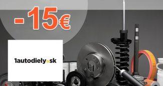 Vernostná zľava až -15€ k nákupu na 1autodiely.sk