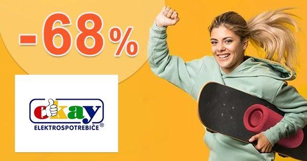 Výpredaj na ELEKTRO a NÁBYTOK až -68% na Okay