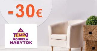 Vytočte si extra zľavu až -30€ na TempoNabytok.sk