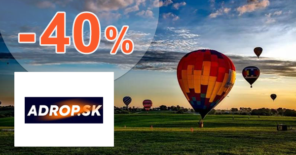f7b20ee50c41 Zľavy a akcie na zážitky až -40% na Adrop.sk