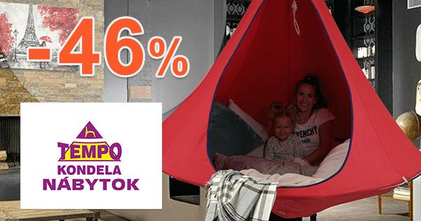 Závesné hojdacie kreslo -46% na TempoNabytok.sk