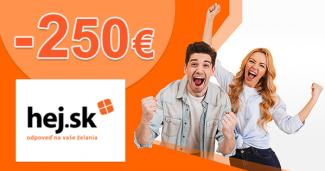Získajte 250€ na vianočné nákupy na Hej.sk