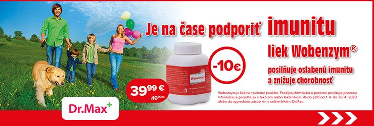 Zľava -10€ na liek Wobenzym na DrMax