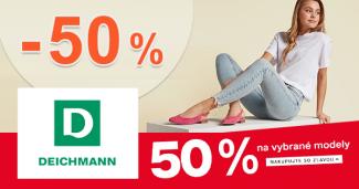 ZĽAVA -50% na vybrané modely na Deichmann.sk