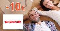 Zľava -10€ na všetko na prvý nákup na TopShop.sk