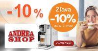 Zľava -10% na kávovary Philips na AndreaShop.sk