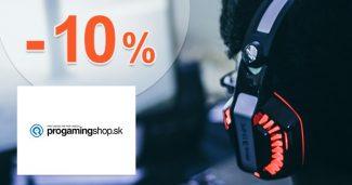 Zľava -10% na notebooky na ProGamingShop.sk