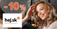 Zľava -10% na produkty na Hej.sk