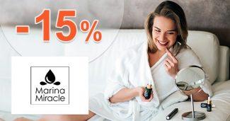 Zľava -15% extra na prvý nákup na MarinaMiracle.sk