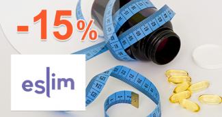 Zľava -15% k nákupu 5 balení eSlim na eSlim.sk