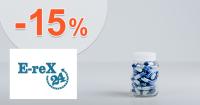 Zľava -15% na ďalší nákup na Erex24.sk