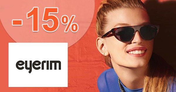 Zľava -15% na všetko na prvý nákup na Eyerim.sk