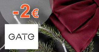 Zľava -2€ ako bonus za registráciu na GATE.shop